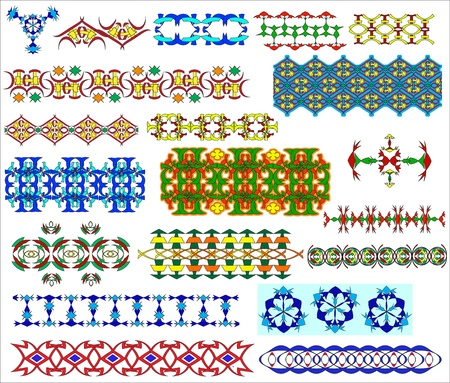 Set of ornaments in flower, Arabian and east styles Stock Vector - 9292011
