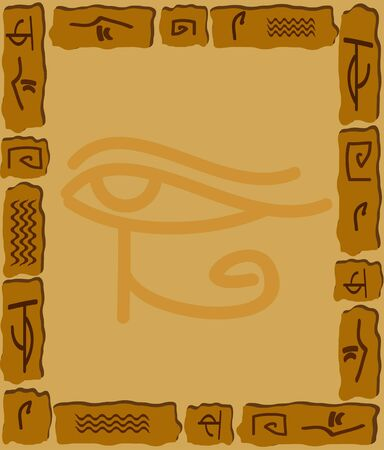 hieroglyphics: Ornament from stones and the Egyptian hieroglyphs