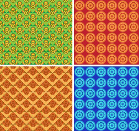 Seamless a background from a geometrical ornament Vector