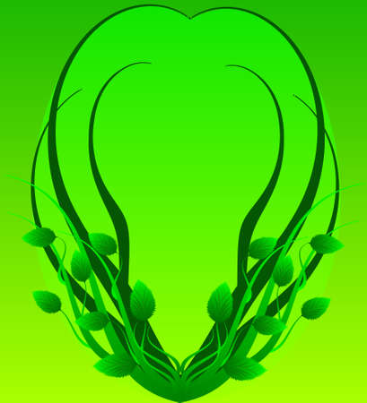 Green framework in the form of branches  Vector