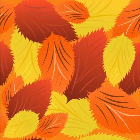 crimson colour: Seamless background from autumn leaves in bulk