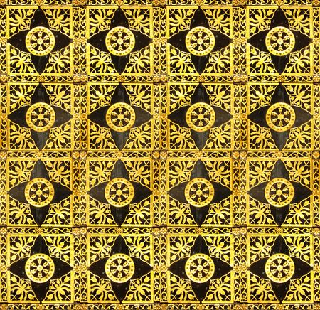 Background from a gold ornament,  seamless the sample photo
