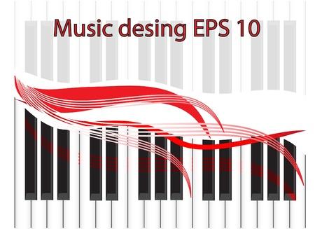 La verificación musical en forma de piano keys Ilustración de vector