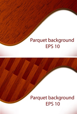 Background from a parquet board, a wooden structure  EPS10 Vector