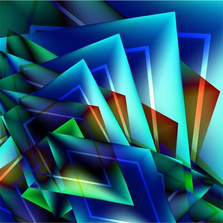 abstracte vormen: Abstracte kleurrijke achtergrond uit een veelkleurige Glasmozaïek Stock Illustratie