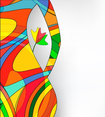 abstract woman: Abstract silhouette of the woman with a flower on a white background Illustration