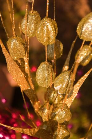 Brilliant golden background from colors, light and shine photo