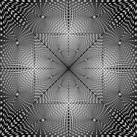 Abstract seamless background from a black-and-white glass mosaic  Vector