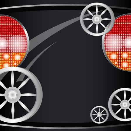 license plate: Background from a car part, light of headlights and license plate for the text
