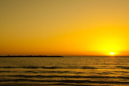 palate: Sunset on the sea, a yellow palate and water