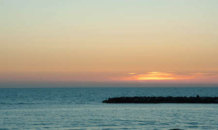 palate: Sunset on the sea, a blue palate and water