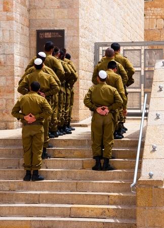 The Israeli soldiers near a western wall, Jerusalem