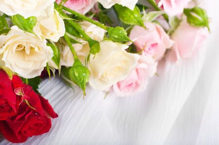 Beautiful roses in retro style, flower, floral background photo