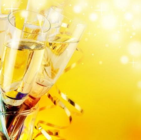 sektglas: Gl�ser mit Champagner, ein neues Jahr Lizenzfreie Bilder