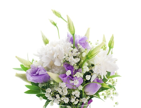 bridal bouquet: Bridal bouquet from white and pink flowers
