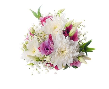 Brautstrauß aus weißen und rosa Blüten