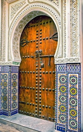 Architectural details and doorways of Morocco Stock Photo - 18673119