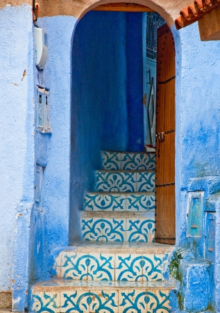Architectonische details en deuropeningen van Marokko