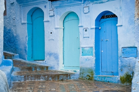 Architectural details and doorways of Morocco, �he�ha�uen� photo