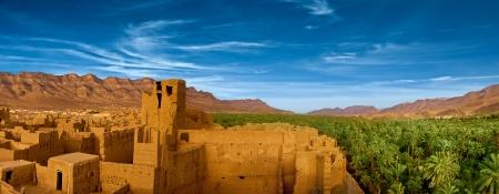 La ciudad de barro en el norte de ?frica, Marruecos Foto de archivo - 19402061