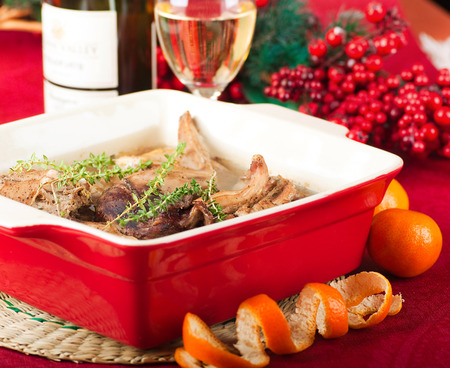 Christmas turkey with berries and oranges Stock Photo - 22611424