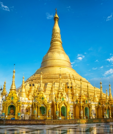 Shwedagon Pagoda in Yangon, Myanmar. Oldest building. photo