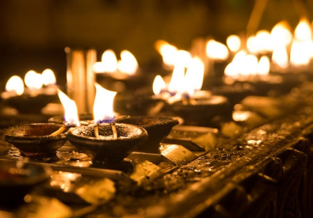 divali: Ritual candles in Shwedagon Pagoda