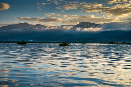 Dawn on Inle Lake, Myanmar photo