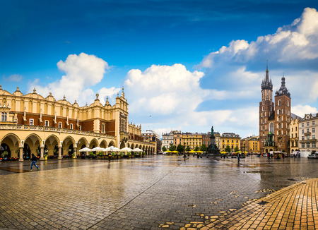 Krakow - Poland's historic center, a city with ancient architecture. Stockfoto