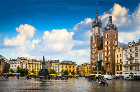 Krakow - Poland's historic center, a city with ancient architecture. Zdjęcie Seryjne