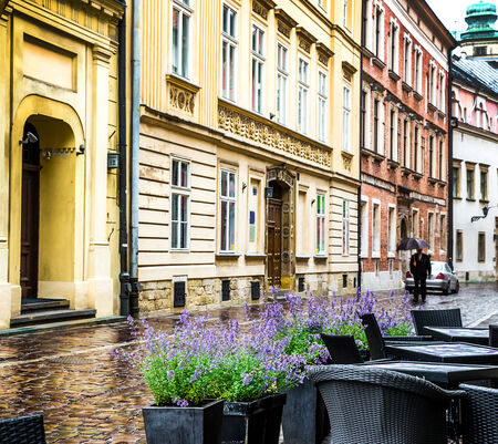 Krakow - Polands historic center, a city with ancient architecture. photo