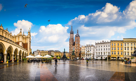 Krakow - Poland's historic center, a city with ancient architecture. Standard-Bild