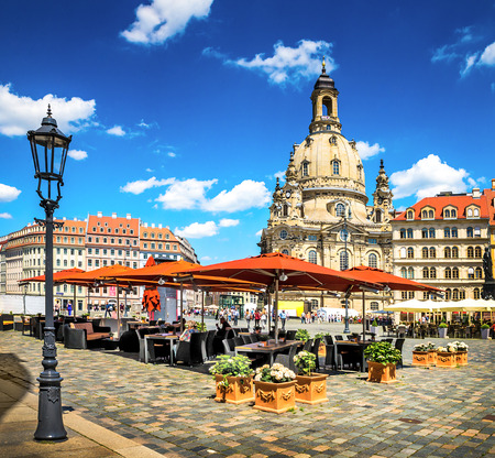 The ancient city of Dresden, Germany. Historical and cultural center of Europe.