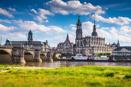 L'ancienne ville de Dresde, Allemagne. Centre historique et culturel de l'Europe.