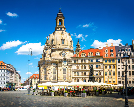 historic architecture: The ancient city of Dresden, Germany. Historical and cultural center of Europe.