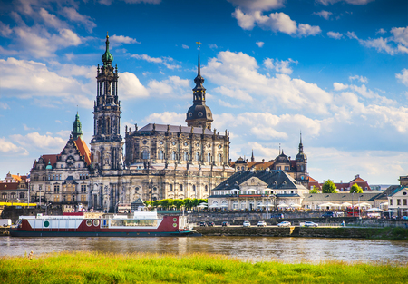dresden: The ancient city of Dresden, Germany. Historical and cultural center of Europe.