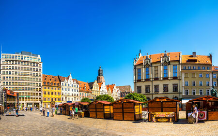 Wroclaw - May 3, 2014: Wroclaw - Polands historic center, a city with ancient architecture.