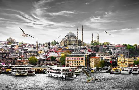 이스탄불 터키, 동부 관광 도시의 수도입니다. 스톡 콘텐츠 - 42098868