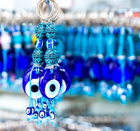 blue glass: Traditional Turkish stone for tourists. Blue eyes.