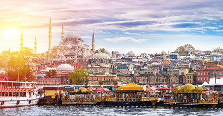 mosques: Istanbul the capital of Turkey, eastern tourist city.