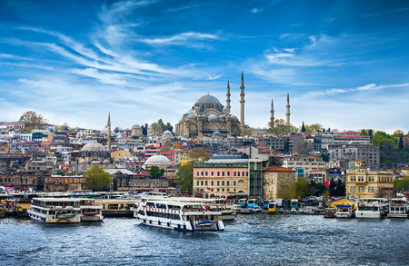 minarets: Istanbul the capital of Turkey, eastern tourist city.