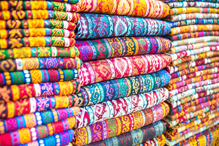 oriental rug: Textiles and Clothing at the bazaar. The Turkish market.