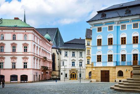moravia: Historical sights of Olomouc in the Czech Republic. European city. Stock Photo