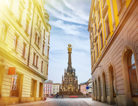 Historical sights of Olomouc in the Czech Republic. European city. Stock Photo