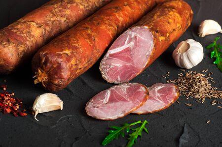 Drogobych-Wurst aus Schweine- und Rindfleisch Fleischspezialitäten.