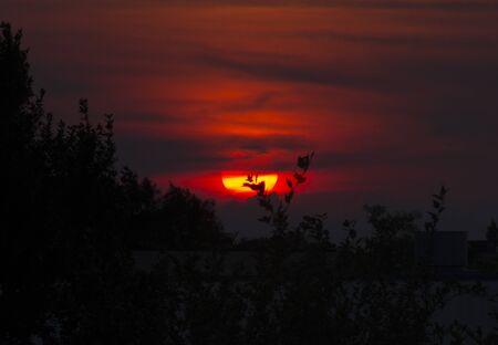 melancholy: Melancholy Sunset Stock Photo