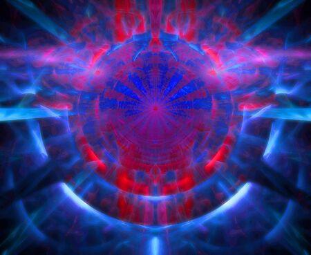 A symmetrical kaleidoscopic fractal image. Imagens