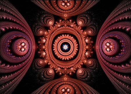 Volledig omringd door identieke vormen in alle richtingen.