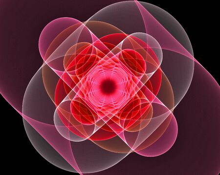 transcend: A view of matter as it transforms into pure energy. Stock Photo