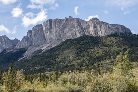 An impressive mountain near Ghost Lake in Alberta, Canada Stock fotó